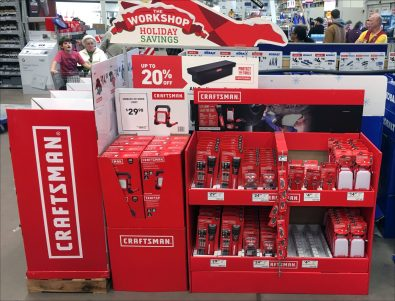 Craftsman Christmas Workshop Display
