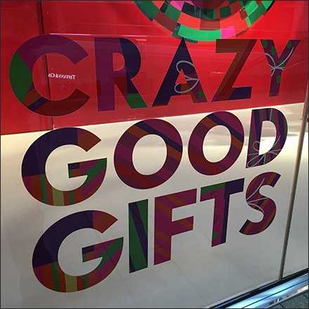 Crazy Good Gifts Window Cling at Neiman Marcus