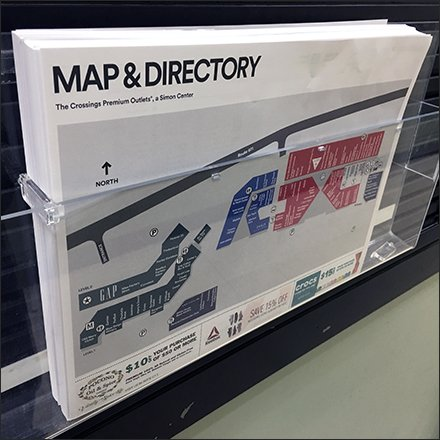 Premium Outlet Mall Map and Directory Aid