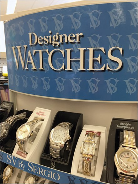 Designer Wrist Watch Display By Sergio