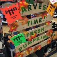 Harvest Time Pumpkins Pallet Sign Feature