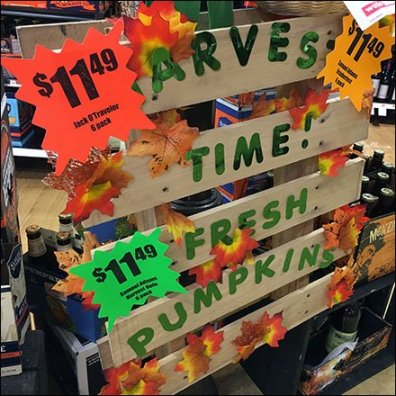Harvest Time Pumpkins Pallet Sign Feature