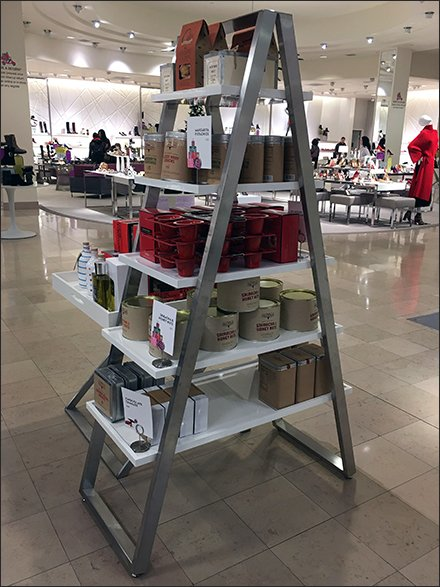 Ladder and Step-Stool Merchandising - Laddered Metal Display Upgrade From Wood