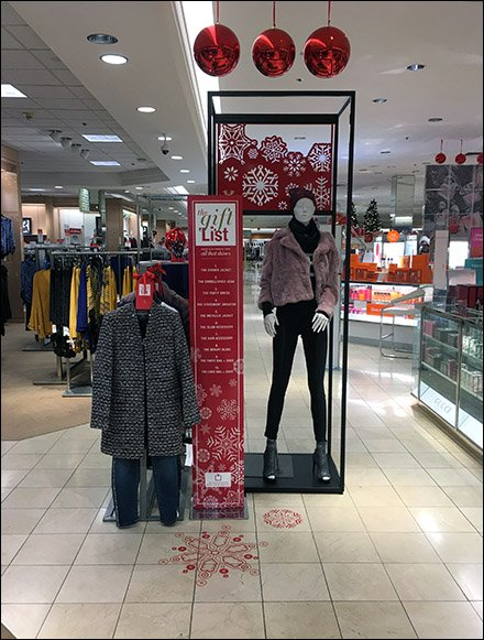 Macy's Itemized Gift List Apparel Display