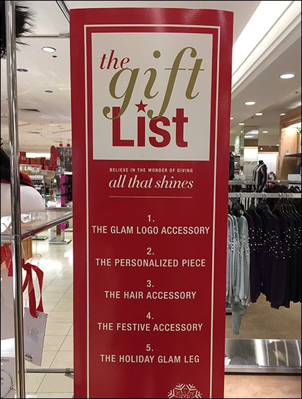 Macy's Itemized Gift List Tower Display