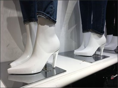 Molded-In-Place Mannequin High Heels