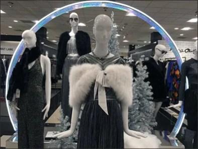 Neon Christmas Arch Graces Neiman Marcus