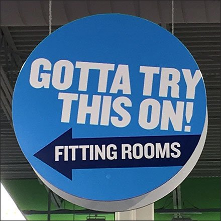 Old Navy Gotta Try This On Fitting Room Directional Feature