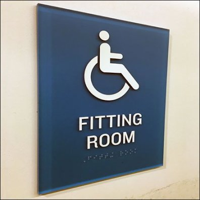 Old Navy Handicapped Fitting Room Designation Feature