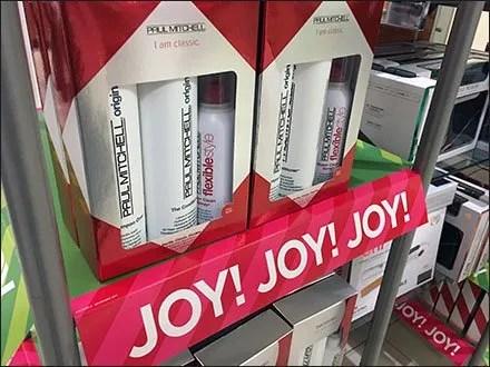 Paul Mitchell Christmas Joy Salon Display