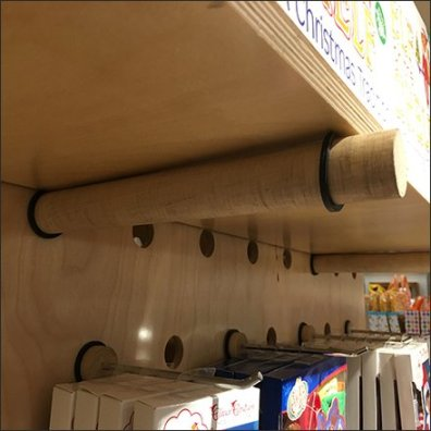 Plug-And-Play Shelf Dowel O-Ring Outfitting