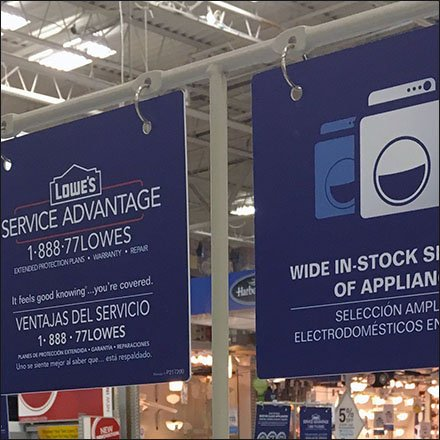 Appliance T-Stand Sign Arms
