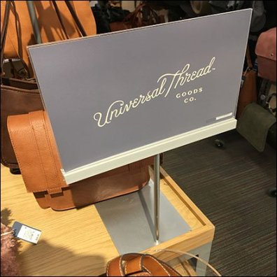 Universal Thread Brand Table-Top Sign