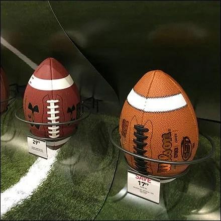 Football Fixtures & Football Displays - Wrap Around Football Field Football Display
