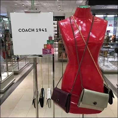 Coach Clutch Red Latex Dress Form Display