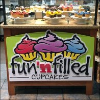 Filled Cupcake Colorful Display