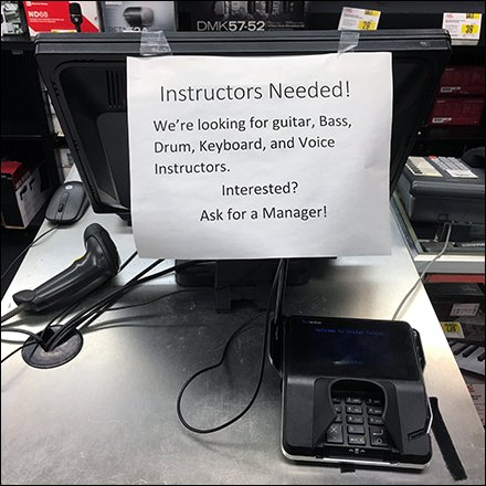 Instructors Needed Hiring Notice At Checkout