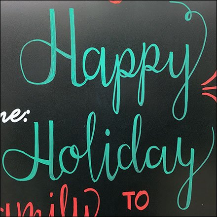 Happy Holiday Chalkboard At Michaels Store