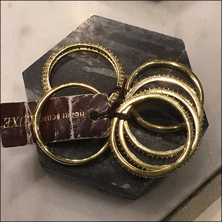 Henri Bendel Fashion Jewelry Hexagon Plinths Feature