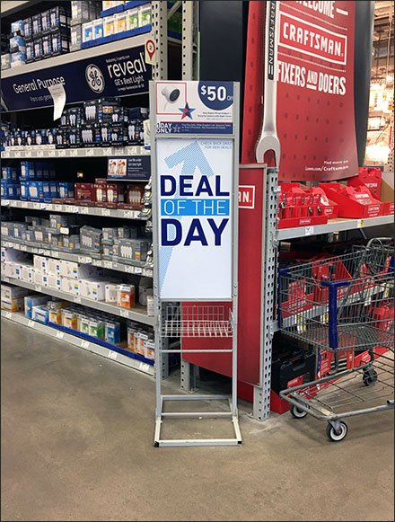 Deal Of The Day Store Entry Sign