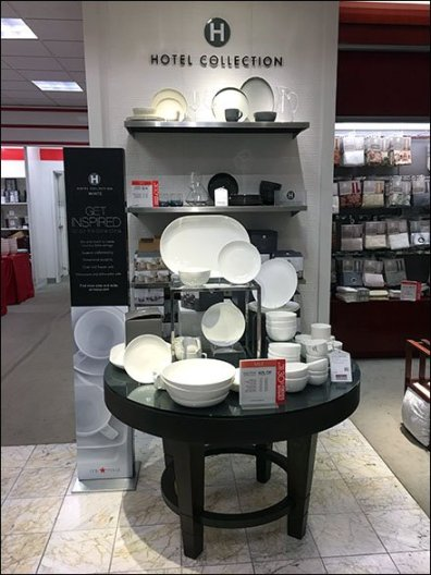 Hotel Fine Bone China Display