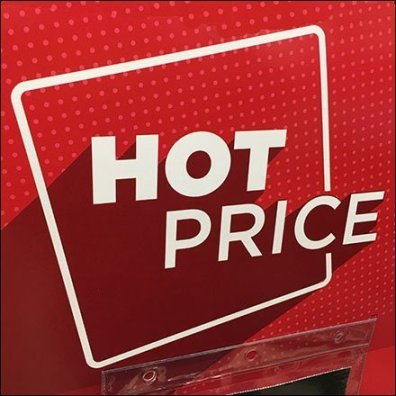 Michaels Hot Price Oversize Table-Top Tent Sign Feature