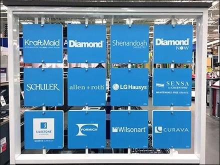 Multi-Company In-Store Branding Board