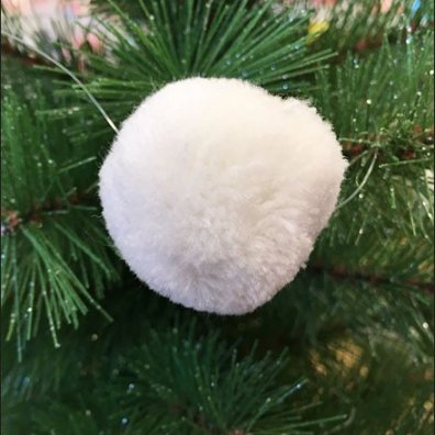 Pom Pom Christmas Tree Ornaments 3