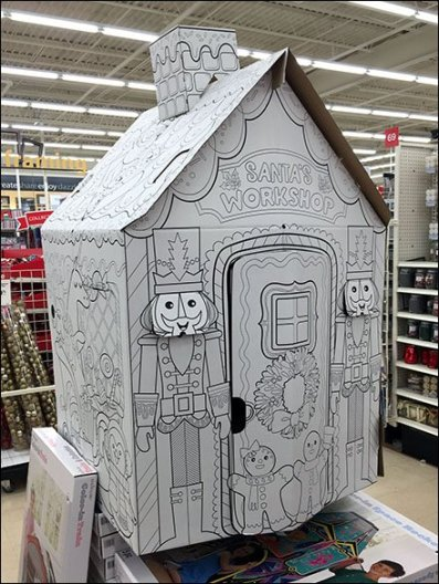 Santa's Workshop Corrugated Construction Playhouse 2