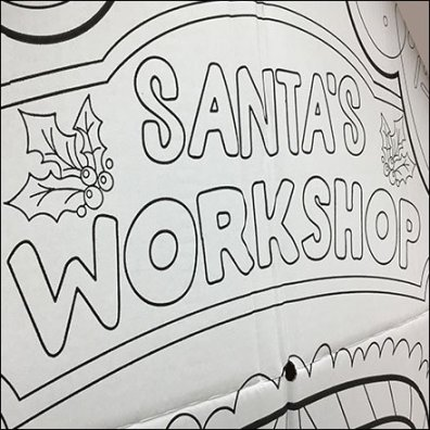 Santa's Workshop Corrugated Playhouse Display