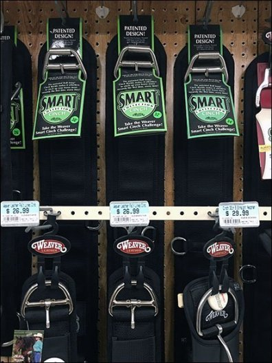 Horse Cinch Extender Bar Merchandising
