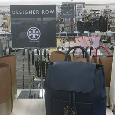 Tory Burch Designer Row Table Sign Stand