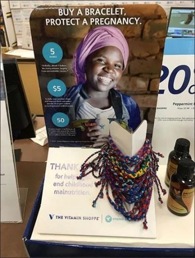 Vitamin Shoppe Malnutrition Bracelet Display