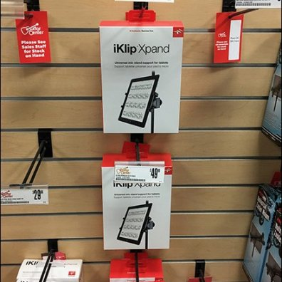 iPad and iPhone Flip-Front Slatwall Hooks