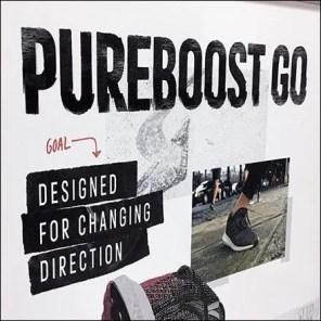 Runner's Lifestyle Adidas Sneaker Display