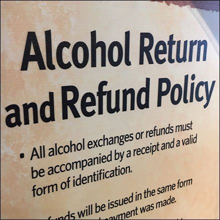 Alcohol Return and Refund Policy in Retail