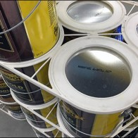 Diamond-Shape Paint Can Stacker Display by Cabot