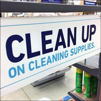 Clean Up on Cleaning Supplies Consonance Feature