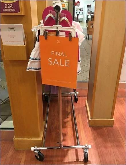 Gymboree Final Sale Clothes Hanger Sign