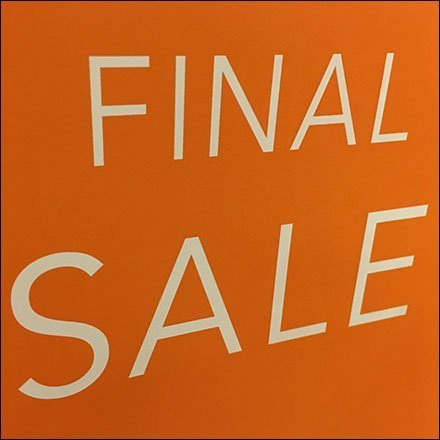 Gymboree Final Sale Clothes Hanger Sign