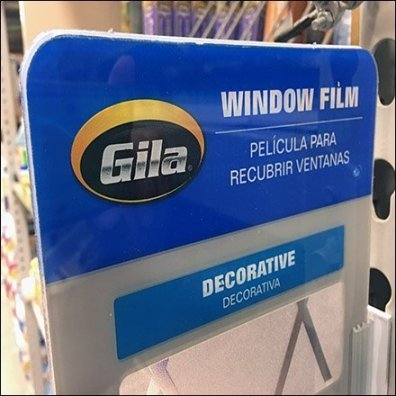 Window Film Sampler For Pallet Rack Upright