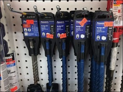 Deep Discounted Drill Bit Merchandising