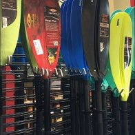 Stand-Alone Slatwire Kayak Paddle Rack