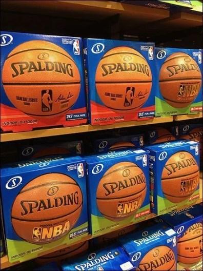 Dick's Wall of Basketballs Mass Merchandising