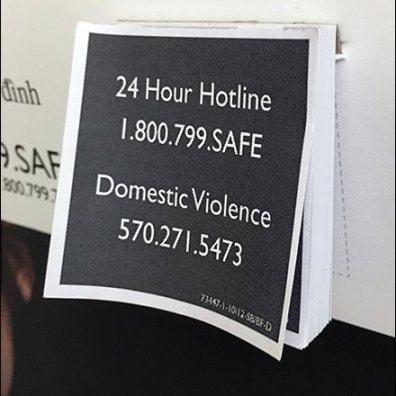 Multilingual Domestic Violence Padded Poster