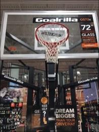 Dream Bigger Basketball Back Board Display