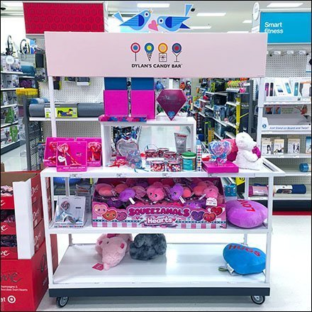 Dylan's Candy Bar Valentine's Day Island Display
