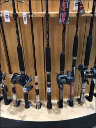 Fishing Rod Architectural Column Merchandising