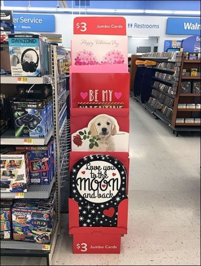 Over The Moon Giant Valentine's Day Card Display