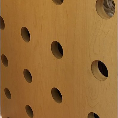 Gymboree Porthole Perforated Wood Pedestal